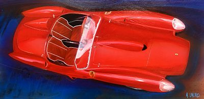 automotive art ferrari
